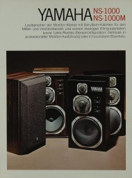 Yamaha NS-1000 / NS-1000 M Prospekt / Katalog