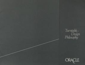 Oracle Turntable Design Philosophy Prospekt / Katalog