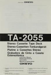Onkyo TA-2055 Bedienungsanleitung
