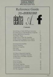 Musical Fidelity Reference Guide (X-Series / Elektra u.a.) Prospekt / Katalog