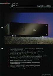 WBE Essence No. 600 MK 2 Prospekt / Katalog