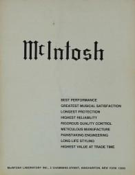 McIntosh McIntosh Protection Prospekt / Katalog