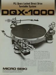 Micro Seiki DQX-1000 Prospekt / Katalog