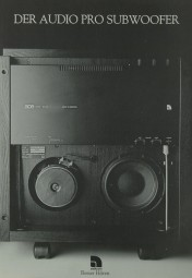 Audio Pro Der Audio Pro Subwoofer B 2-50 Prospekt / Katalog