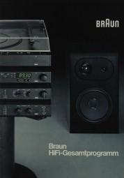 Braun Hifi-Gesamtprogramm 1981 Prospekt / Katalog