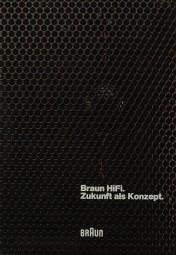 Braun Zukunft als Konzept 1982 Prospekt / Katalog