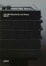 Braun Die Hifi-Elektronic von Braun 86/87 Prospekt / Katalog