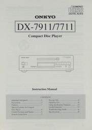 Onkyo DX-7911 / 7711 Bedienungsanleitung