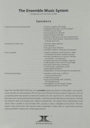 Ensemble The Ensemble Music System Prospekt / Katalog