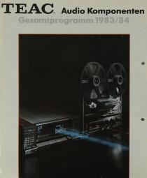Teac Gesamtprogramm 1983/84 - Audio Komponenten Prospekt / Katalog