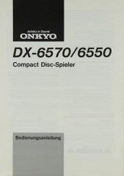 Onkyo DX-6570 / 6550 Bedienungsanleitung