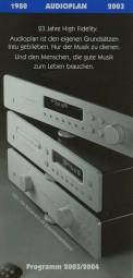Audioplan Programm 2003/2004 Prospekt / Katalog