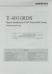 Onkyo T-4031 RDS Bedienungsanleitung