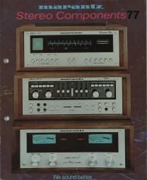 Marantz Stereo Components 77 Prospekt / Katalog