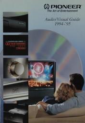 Pioneer Audio / Visual Guide 1994-95 Prospekt / Katalog
