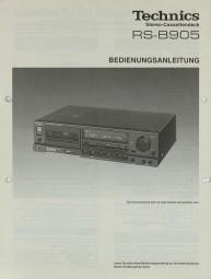 Technics RS-B 905 Bedienungsanleitung