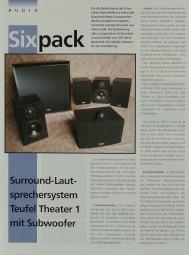 Teufel Theater 1 mit Subwoofer Prospekt / Katalog