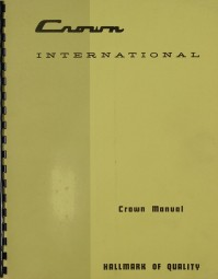 Crown International Prospekt / Katalog