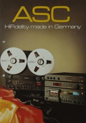 ASC HiFidelity made in Germany Prospekt / Katalog