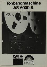 ASC AS 6000 S Prospekt / Katalog