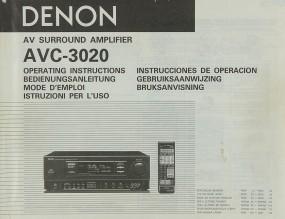 Denon AVC-3020 Bedienungsanleitung