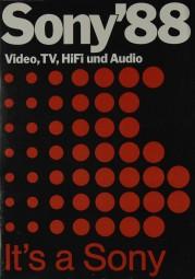 Sony Sony ´88 Prospekt / Katalog