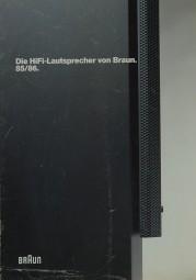 Braun Die HiFi-Lautsprecher von Braun. 85/86 Prospekt / Katalog