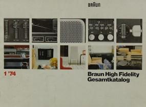 Braun Gesamtkatalog 1 ´74 Prospekt / Katalog