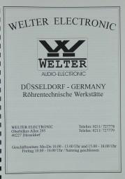Welter Electronic Produktübersicht Prospekt / Katalog