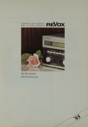 Revox Produktübersicht ´85 Prospekt / Katalog