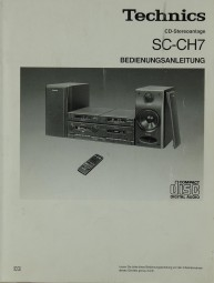 Technics SC-CH 7 Bedienungsanleitung