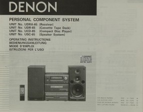 Denon UDRA-65 / UDR-65 / UCD-65 / USC-65 Bedienungsanleitung