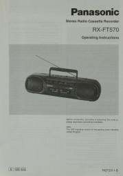 Panasonic RX-FT 570 Bedienungsanleitung