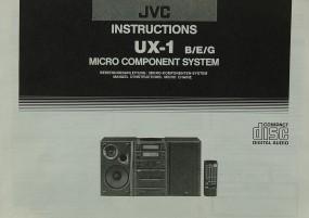 JVC UX-1 B/E/G Bedienungsanleitung