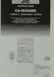 JVC CA-MXS 6 BK Bedienungsanleitung