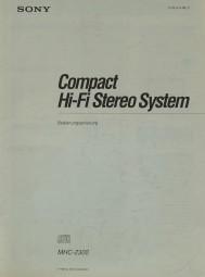 Sony MHC-2300 Bedienungsanleitung