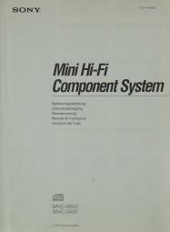 Sony MHC-6600 / MHC-5600 Bedienungsanleitung