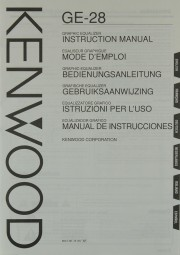 Kenwood GE-28 Bedienungsanleitung
