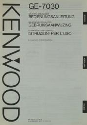 Kenwood GE-7030 Bedienungsanleitung