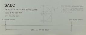 Saec Model WE-308 New Justageschablone