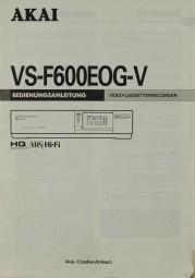 Akai VS-F 600 EOG-V Bedienungsanleitung
