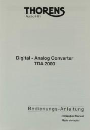 Thorens TDA 2000 Bedienungsanleitung