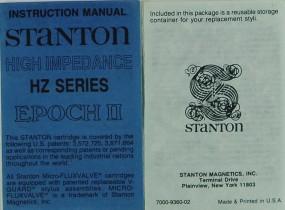 Stanton HZ Series Bedienungsanleitung