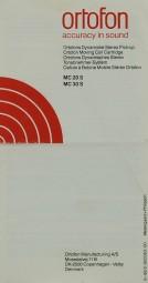 Ortofon MC 20 S / MC 30 S Bedienungsanleitung