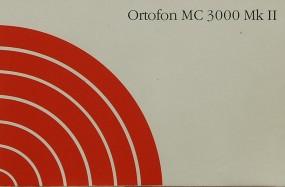 Ortofon MC 3000 Mk II Bedienungsanleitung