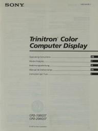 Sony CPD-100 GST / CPD-200 GST Bedienungsanleitung