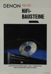 Denon HiFi-Bausteine ´89/90 Prospekt / Katalog