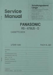Panasonic Technics RS-678 US-D Schaltplan / Serviceunterlagen
