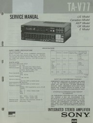 Sony TA-V 77 Schaltplan / Serviceunterlagen