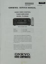 Onkyo TX-DS 838 Schaltplan / Serviceunterlagen